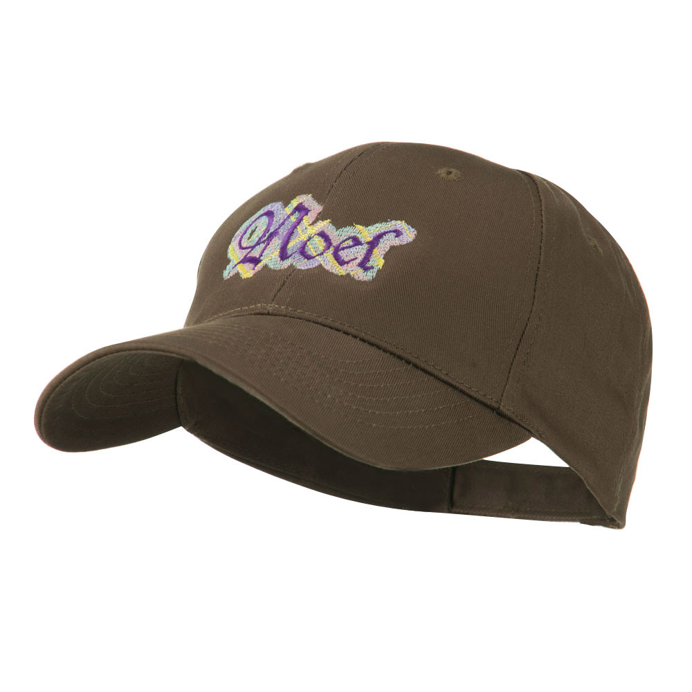 Christmas Plaid Noel Embroidered Cap - Brown - Hats and Caps Online Shop - Hip Head Gear