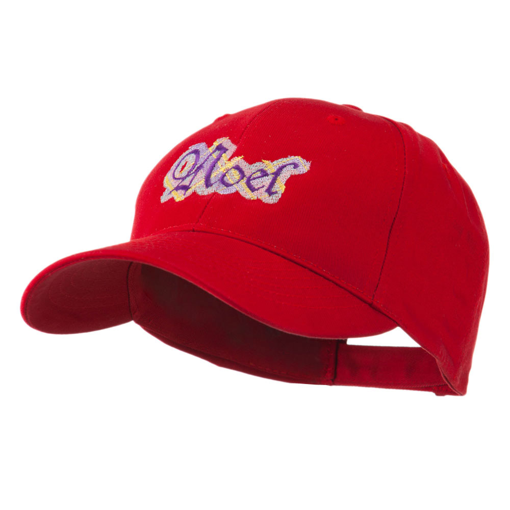 Christmas Plaid Noel Embroidered Cap - Red - Hats and Caps Online Shop - Hip Head Gear