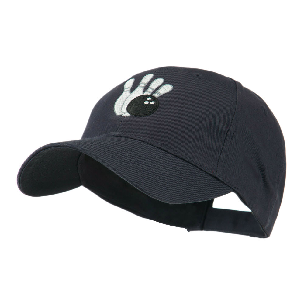 Bowling Ball with 4 Pins Embroidered Cap - Navy - Hats and Caps Online Shop - Hip Head Gear