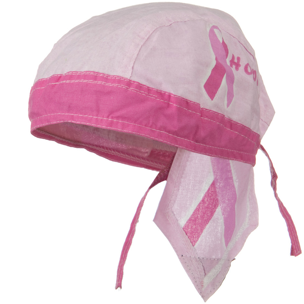 Pink Ribbon Headwrap - Hope - Hats and Caps Online Shop - Hip Head Gear