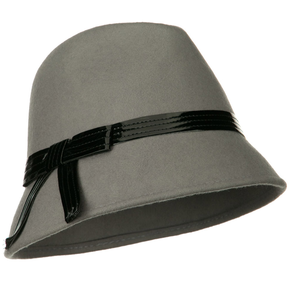 Fedora Hat with PU Ribbon Band - Light Grey - Hats and Caps Online Shop - Hip Head Gear