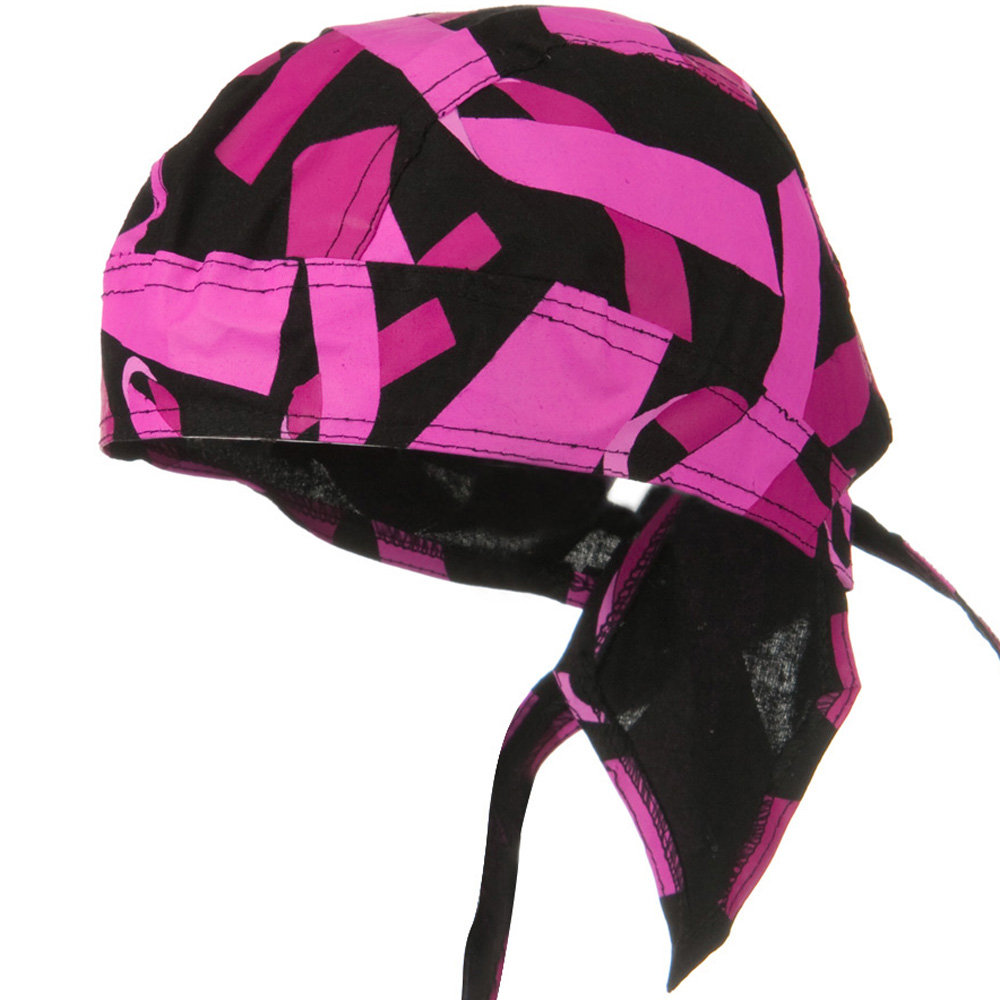 Pink Ribbon Headwrap - Pink Ribbon Black - Hats and Caps Online Shop - Hip Head Gear