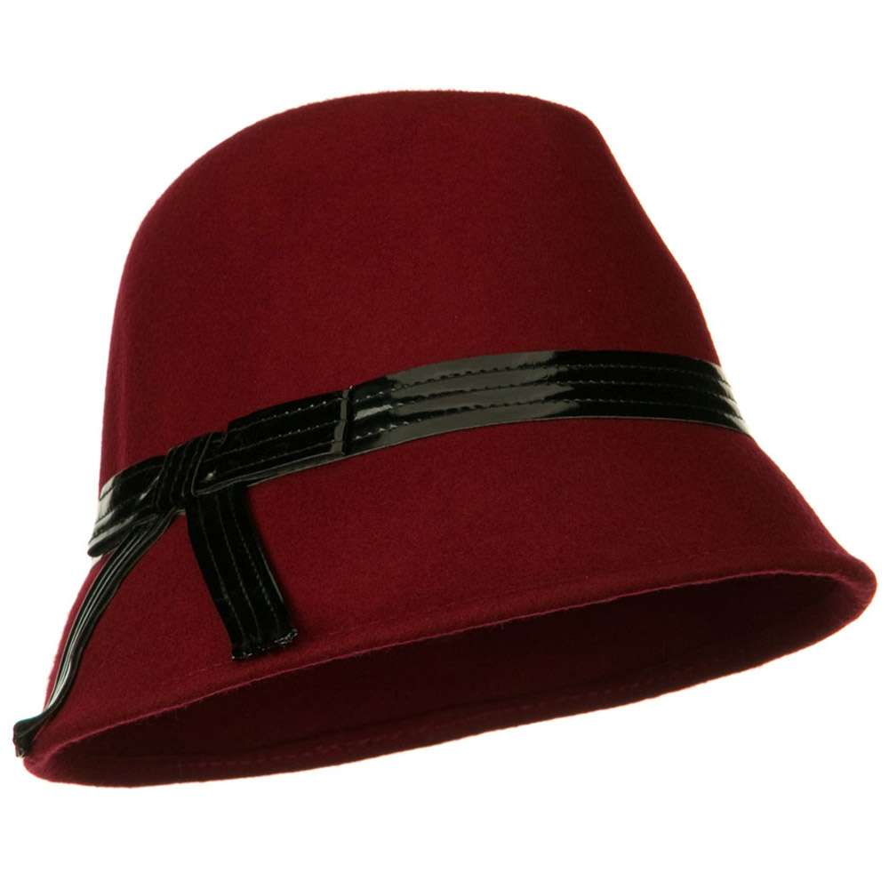 Fedora Hat with PU Ribbon Band - Red - Hats and Caps Online Shop - Hip Head Gear