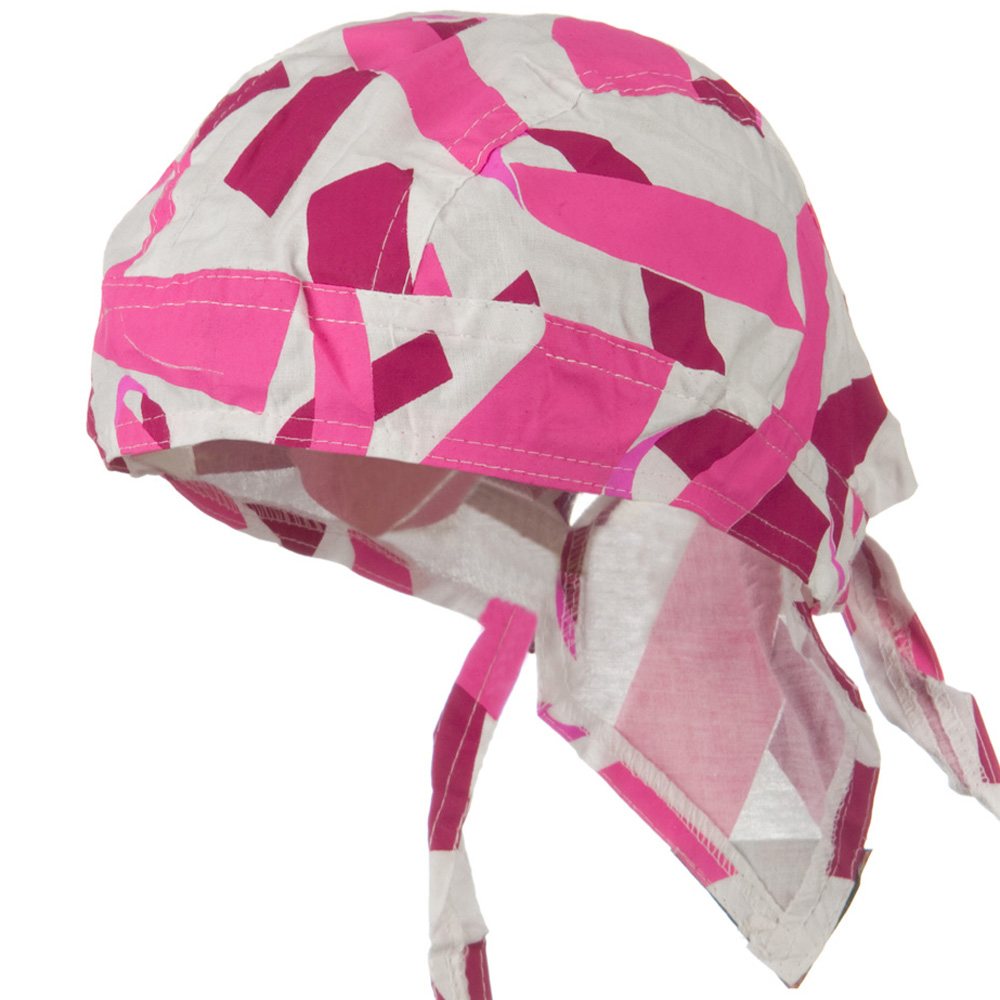 Pink Ribbon Headwrap - Pink Ribbon White - Hats and Caps Online Shop - Hip Head Gear