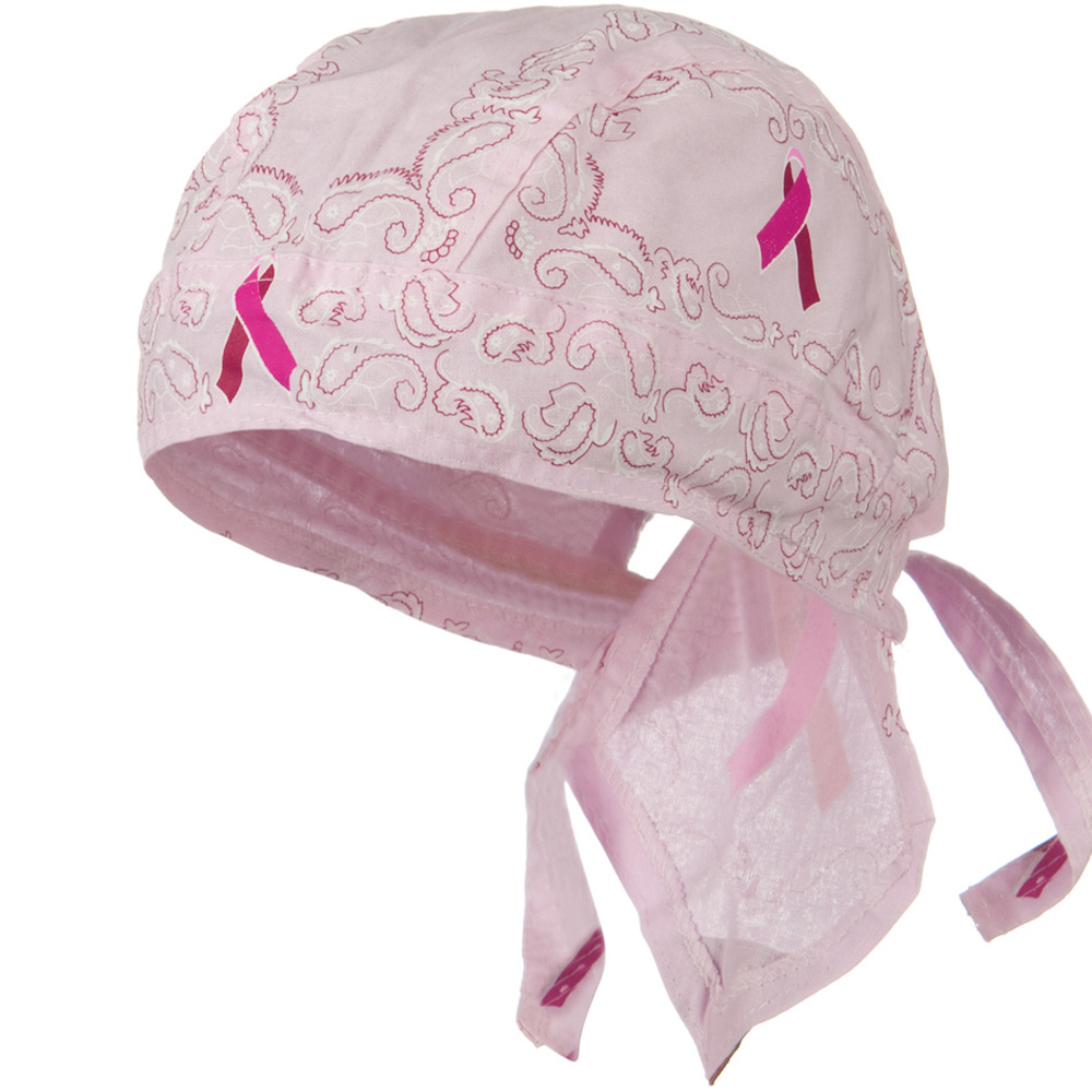 Pink Ribbon Headwrap - Paisley - Hats and Caps Online Shop - Hip Head Gear
