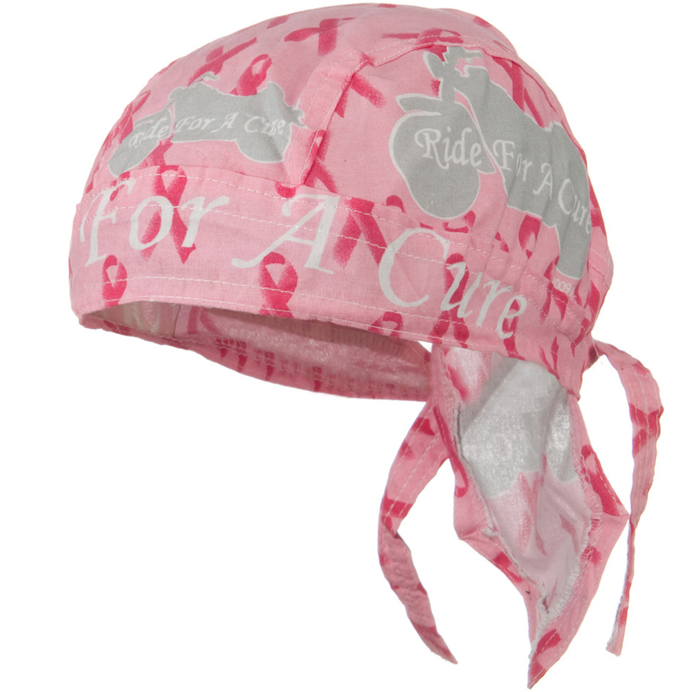 Pink Ribbon Headwrap - Ride for a Cure - Hats and Caps Online Shop - Hip Head Gear