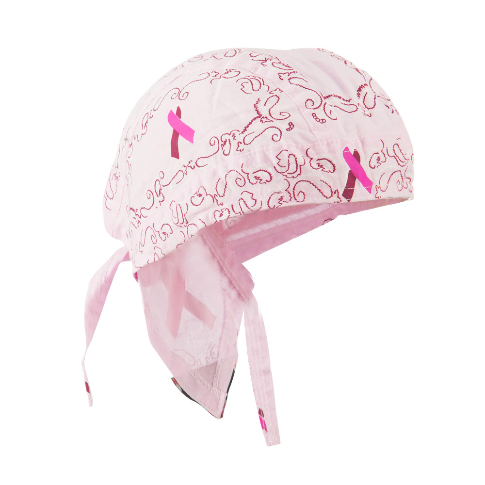 Pink Ribbon Headwrap - Ribbon Paisley - Hats and Caps Online Shop - Hip Head Gear