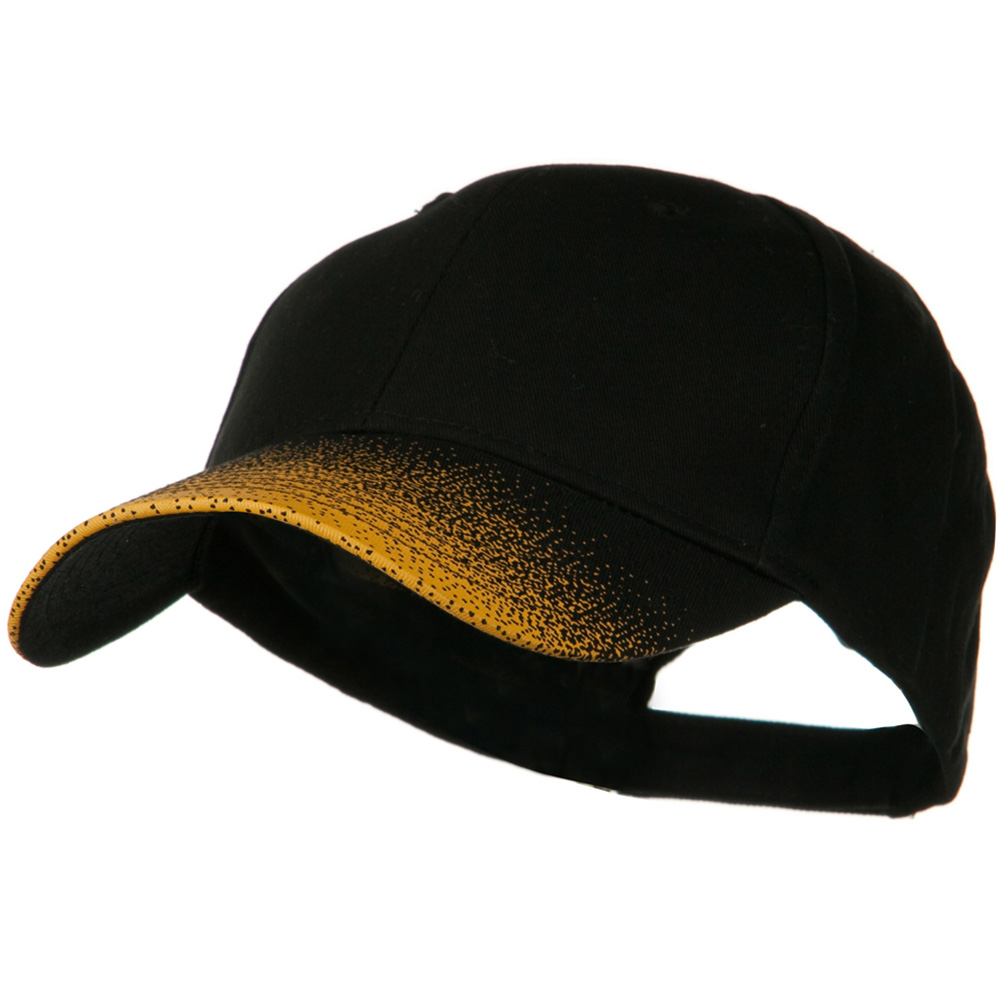 Constructed Speckle Bill Accent Cap - Black Gold - Hats and Caps Online Shop - Hip Head Gear