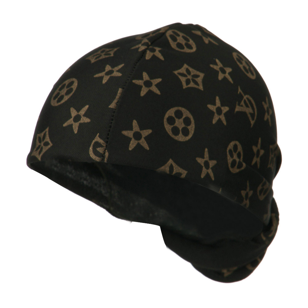 Pattern Magic Long Wrap - Black Gold - Hats and Caps Online Shop - Hip Head Gear