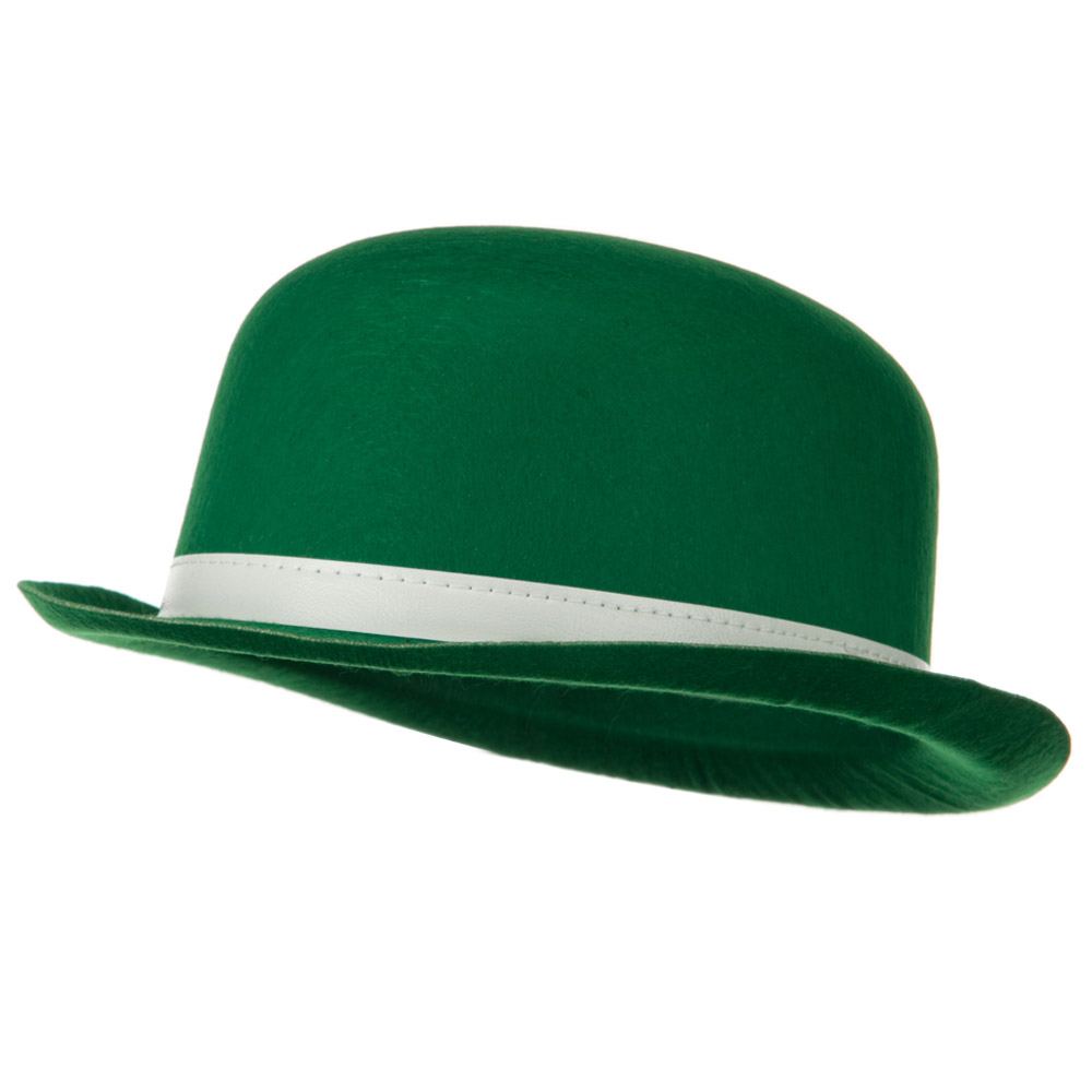 Permefelt St Patrick's Hat - Green Bowler - Hats and Caps Online Shop - Hip Head Gear