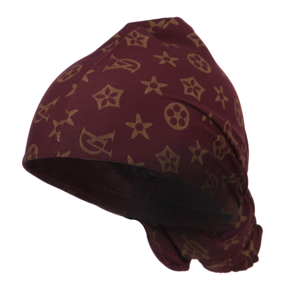 Pattern Magic Long Wrap - Burgundy Gold - Hats and Caps Online Shop - Hip Head Gear