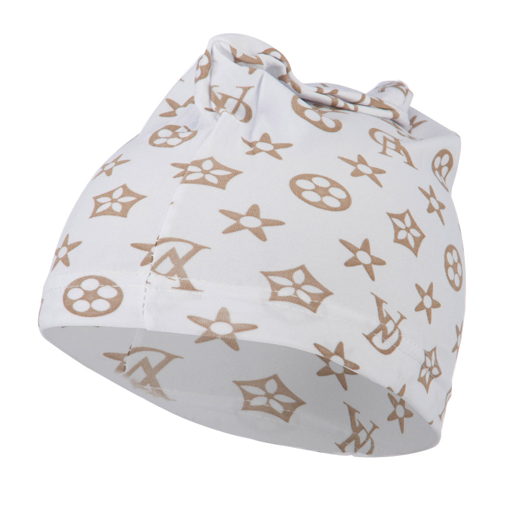 Pattern Real Fit Spandex Skull Cap - White - Hats and Caps Online Shop - Hip Head Gear