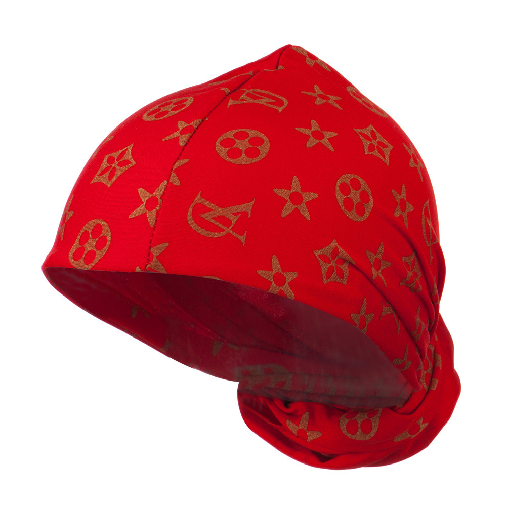 Pattern Magic Long Wrap - Red Gold - Hats and Caps Online Shop - Hip Head Gear