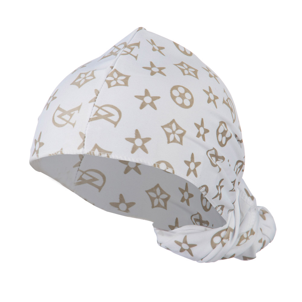 Pattern Magic Long Wrap - White Gold - Hats and Caps Online Shop - Hip Head Gear