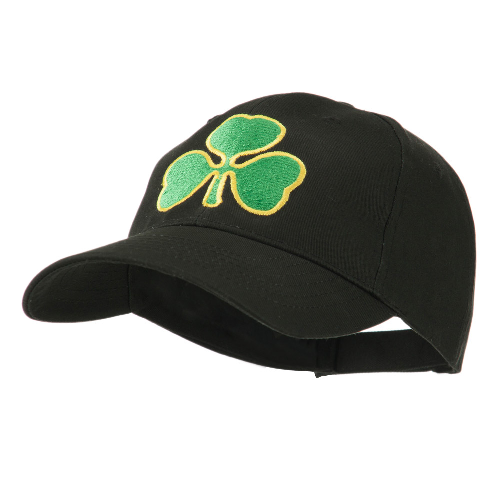 Clover St.Patrick's Day Embroidered Cap - Black - Hats and Caps Online Shop - Hip Head Gear