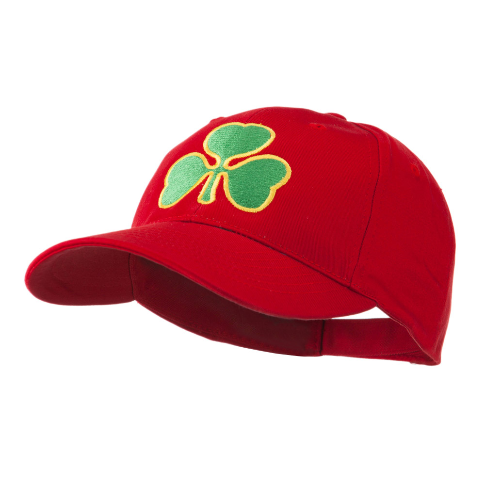Clover St.Patrick's Day Embroidered Cap - Red - Hats and Caps Online Shop - Hip Head Gear