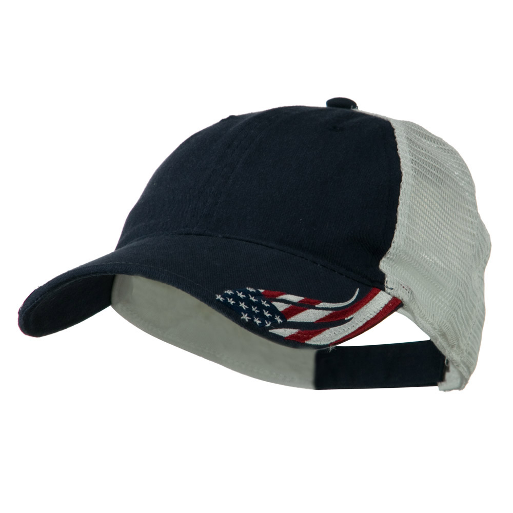 6 Panel CT PCV Washed Cap - Navy White - Hats and Caps Online Shop - Hip Head Gear