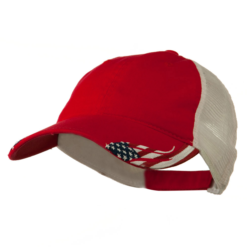 6 Panel CT PCV Washed Cap - Red White - Hats and Caps Online Shop - Hip Head Gear