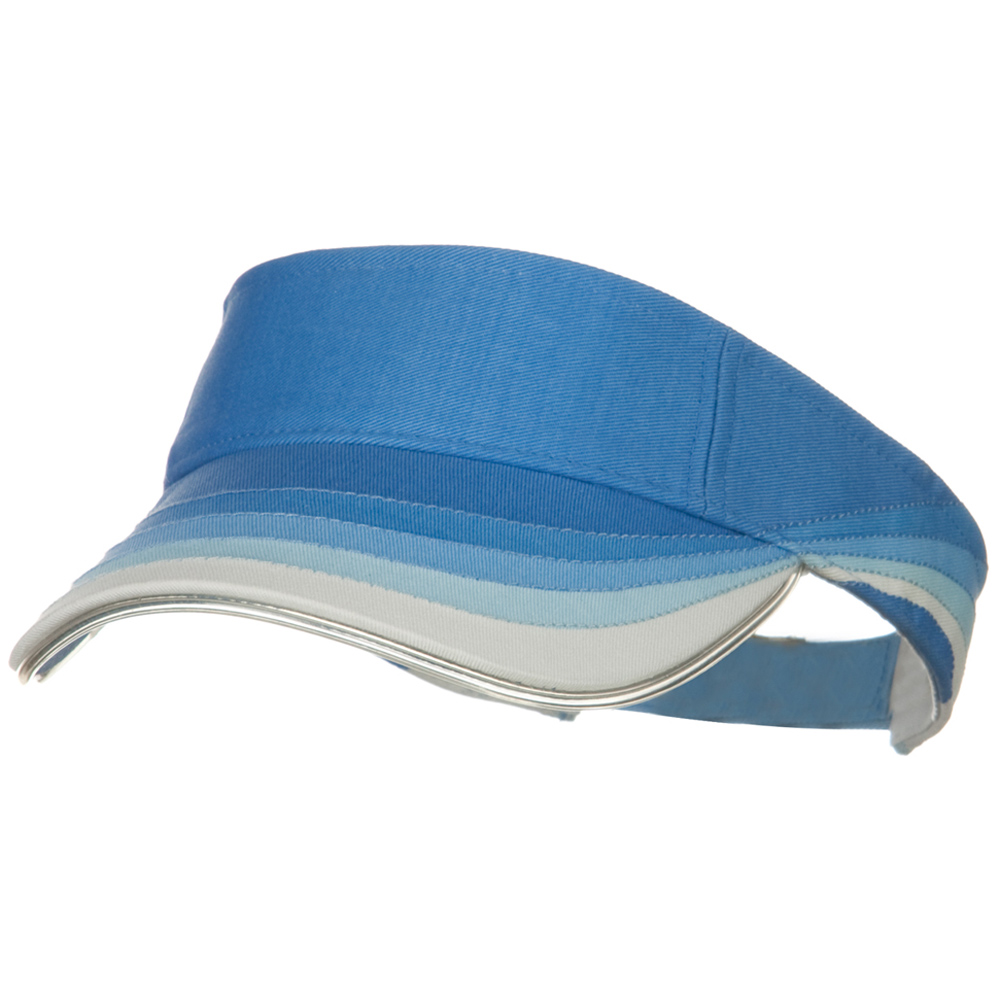 3 Panel Wave Cotton Piping Visor - Blue - Hats and Caps Online Shop - Hip Head Gear