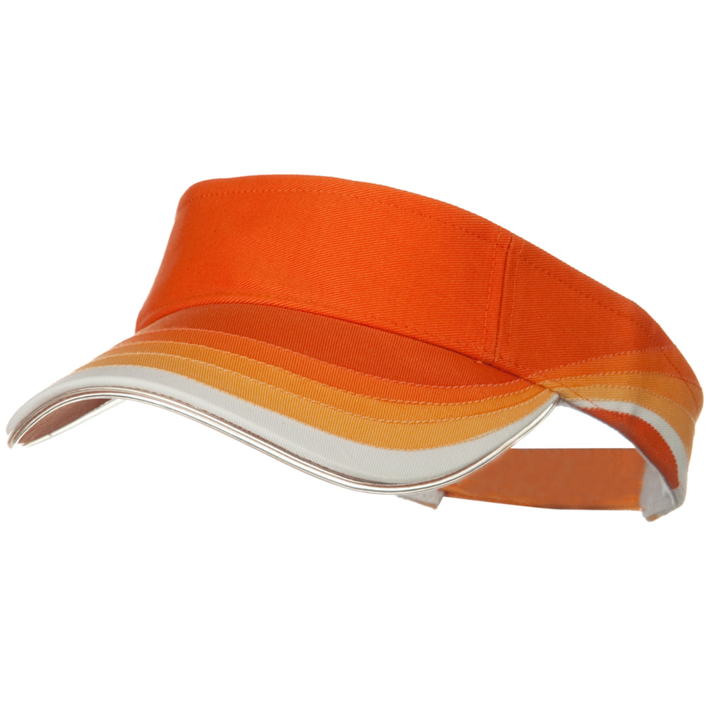 3 Panel Wave Cotton Piping Visor - Orange - Hats and Caps Online Shop - Hip Head Gear