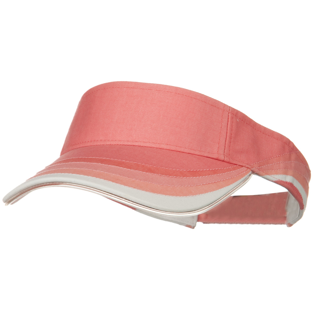 3 Panel Wave Cotton Piping Visor - Pink - Hats and Caps Online Shop - Hip Head Gear
