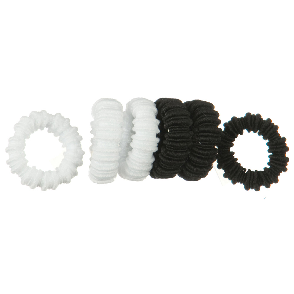 Pony O's 36 PCS hair Band - White Black - Hats and Caps Online Shop - Hip Head Gear