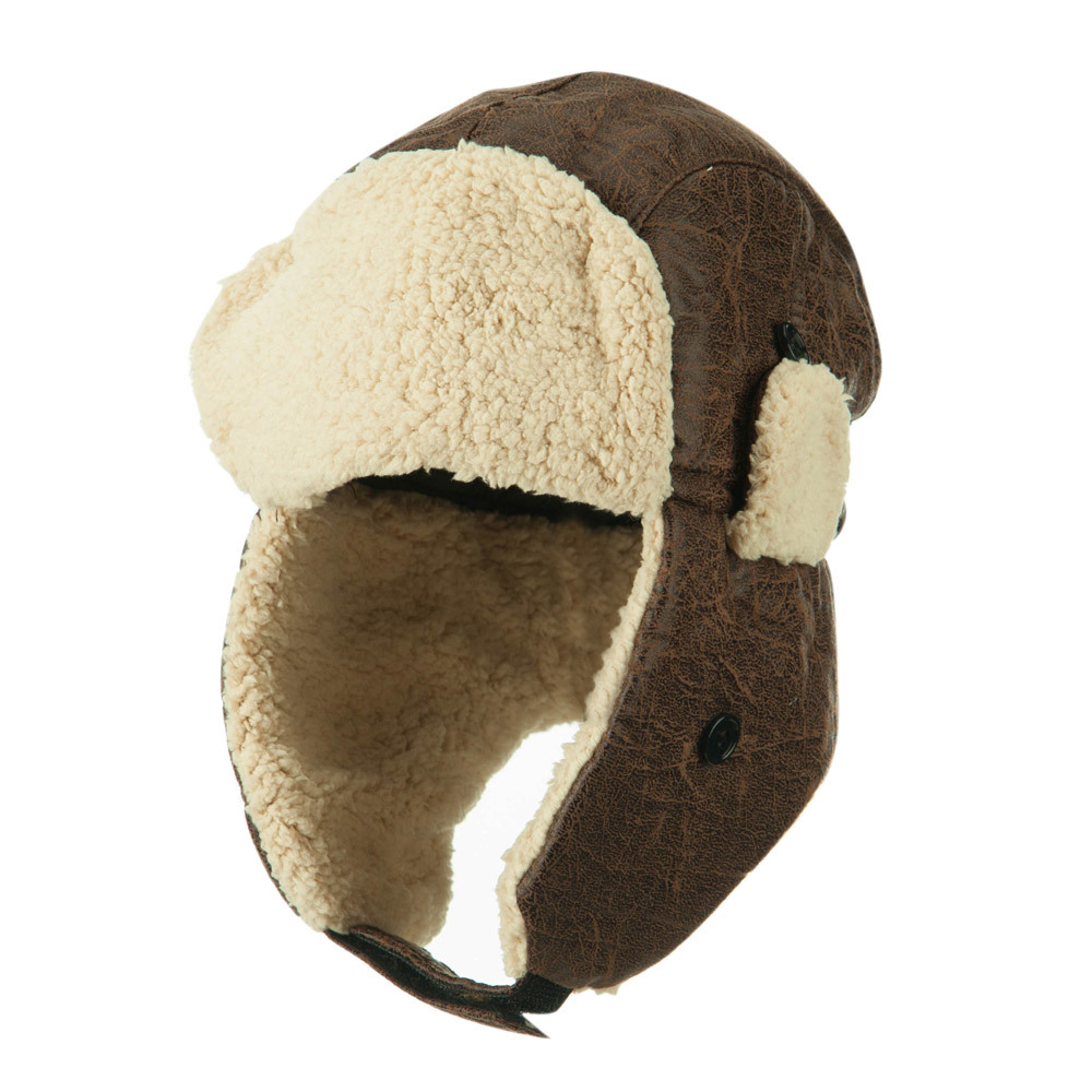 Boys' Poly Lined Trooper Hat - Chocolate - Hats and Caps Online Shop - Hip Head Gear