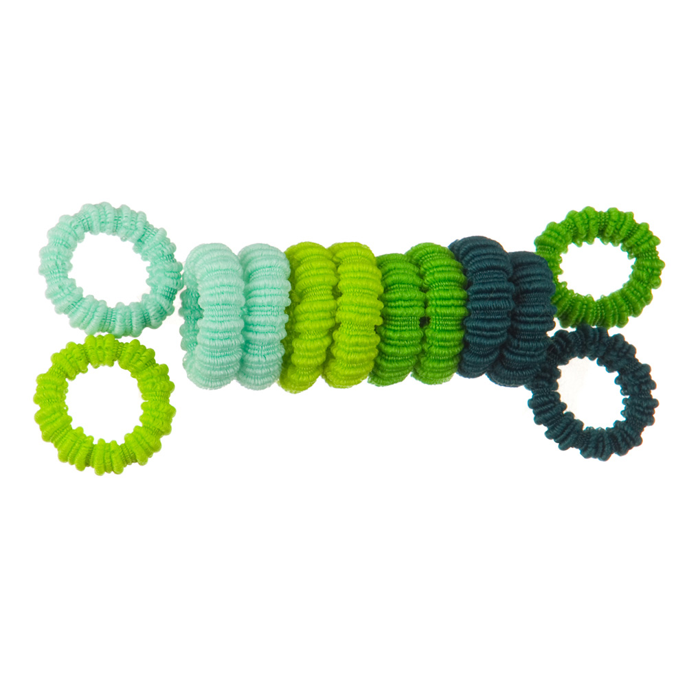 Pony O's 36 PCS hair Band - Green - Hats and Caps Online Shop - Hip Head Gear