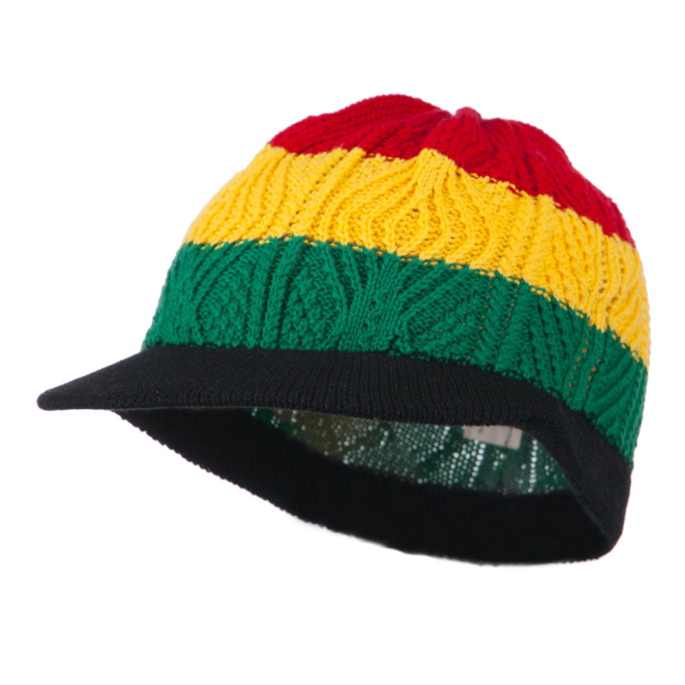 Rasta Beanies Visors (04)-Red Yellow Green - Hats and Caps Online Shop - Hip Head Gear
