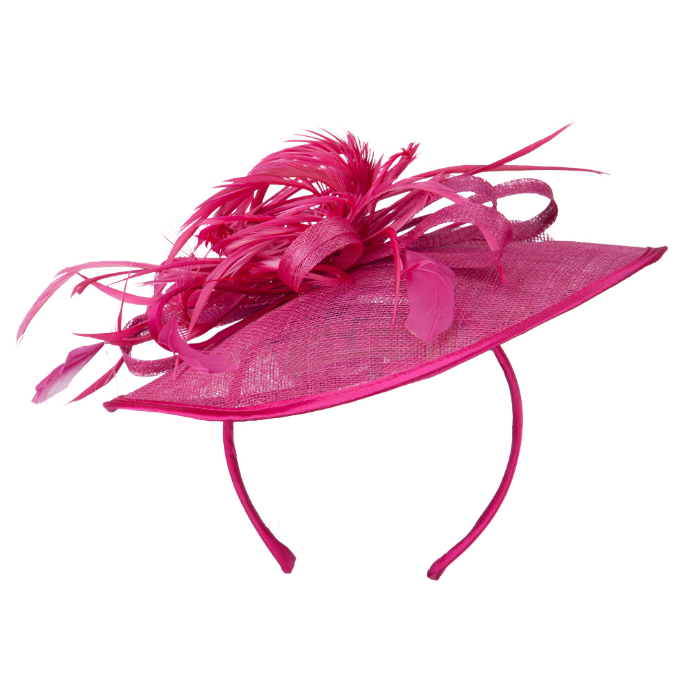 Women's Round Crown Headband and Clip Fascinator - Fuchsia - Hats and Caps Online Shop - Hip Head Gear