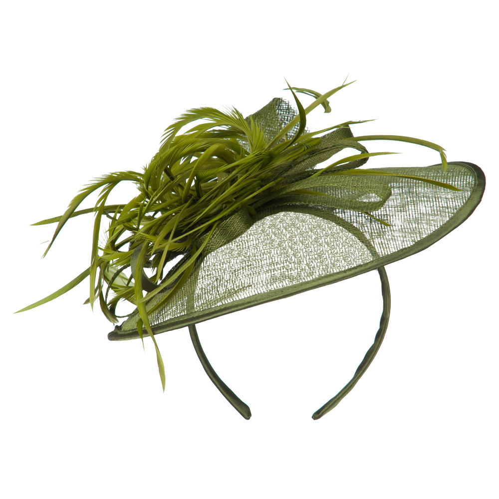 Women's Round Crown Headband and Clip Fascinator - Green - Hats and Caps Online Shop - Hip Head Gear