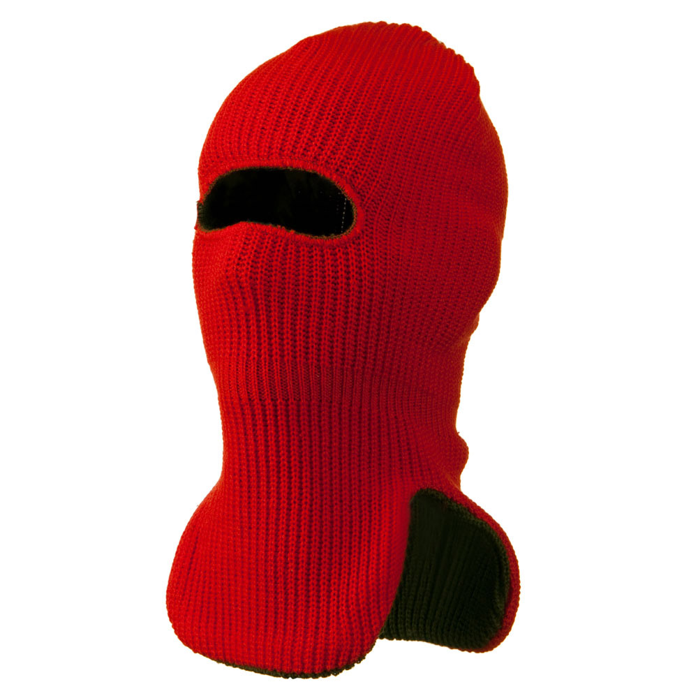 Reversible Double Layer Knit Ski Mask - Orange - Hats and Caps Online Shop - Hip Head Gear