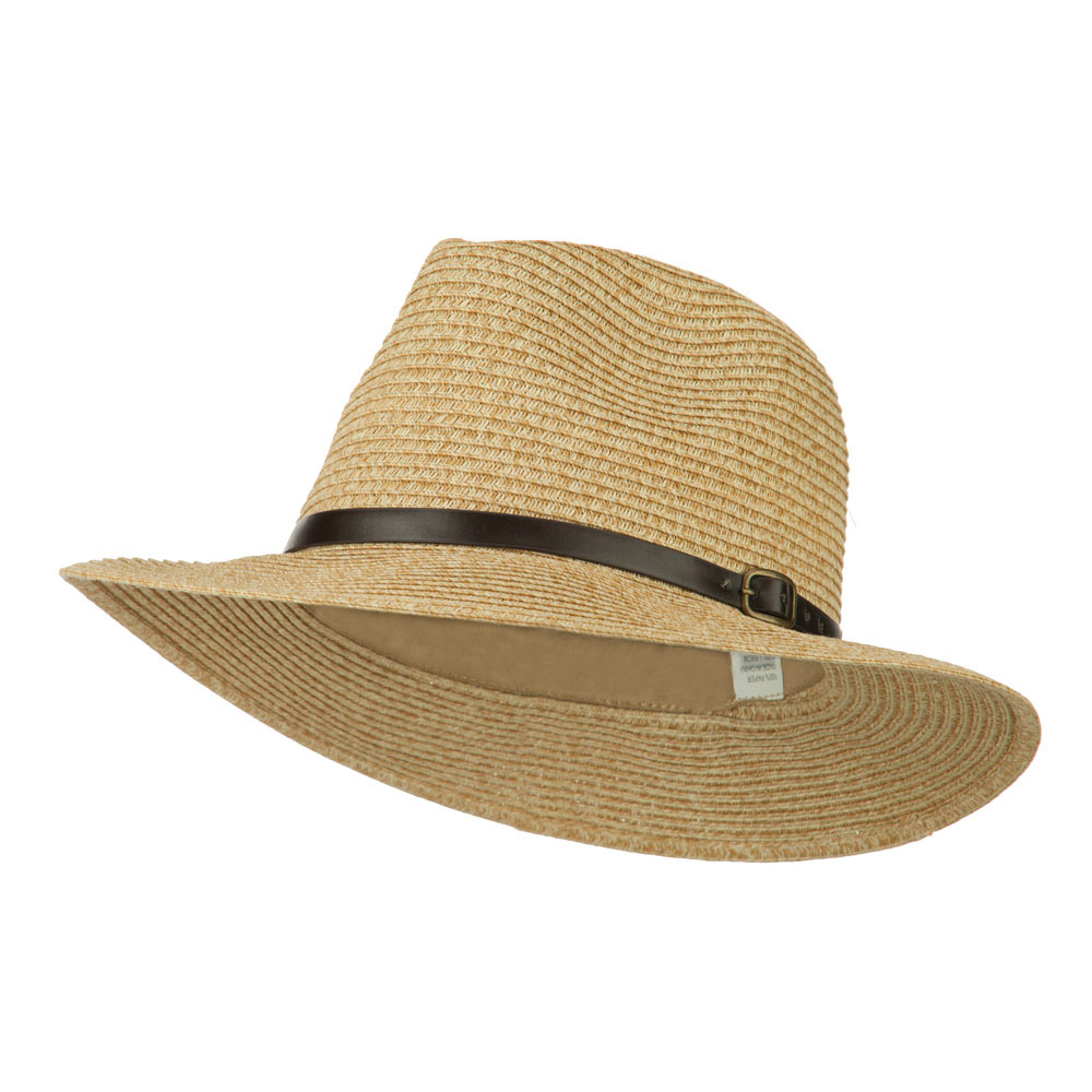 Men's Large Brim with Belt Fedora - Toast - Hats and Caps Online Shop - Hip Head Gear