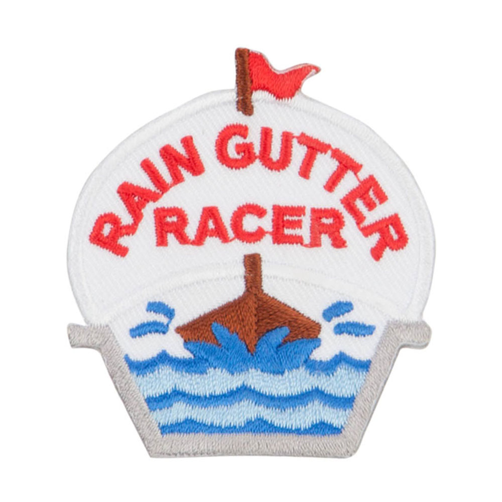 Rain Gutter Boat Patches - White