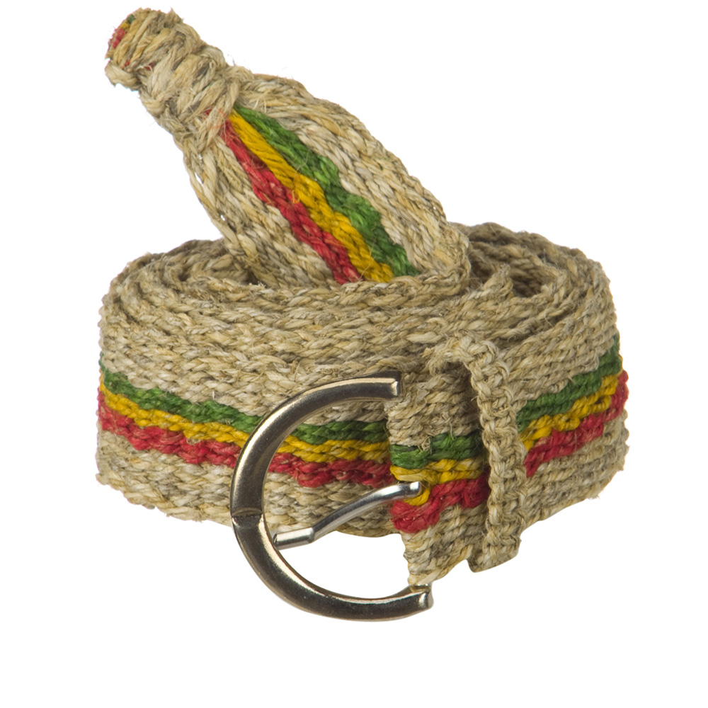Rasta Belt - Natural RGY