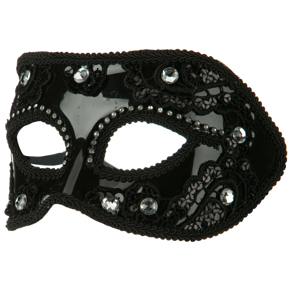 Rhinestone Mask - Black - Hats and Caps Online Shop - Hip Head Gear