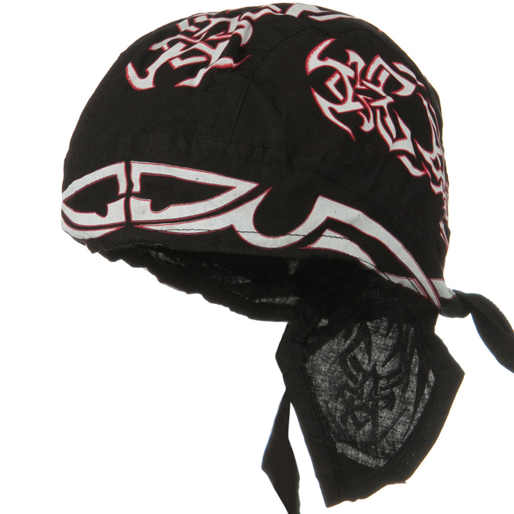 Road Hog Series Headwraps-White Tribal IV - Hats and Caps Online Shop - Hip Head Gear