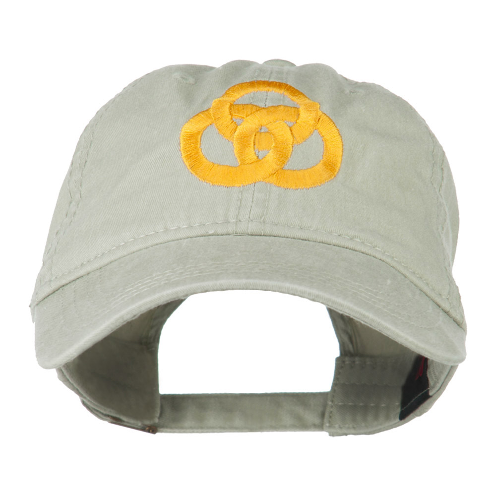 3 Rings Connected Embroidered Cap - Khaki - Hats and Caps Online Shop - Hip Head Gear