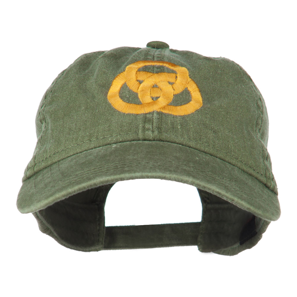 3 Rings Connected Embroidered Cap - Olive Green - Hats and Caps Online Shop - Hip Head Gear