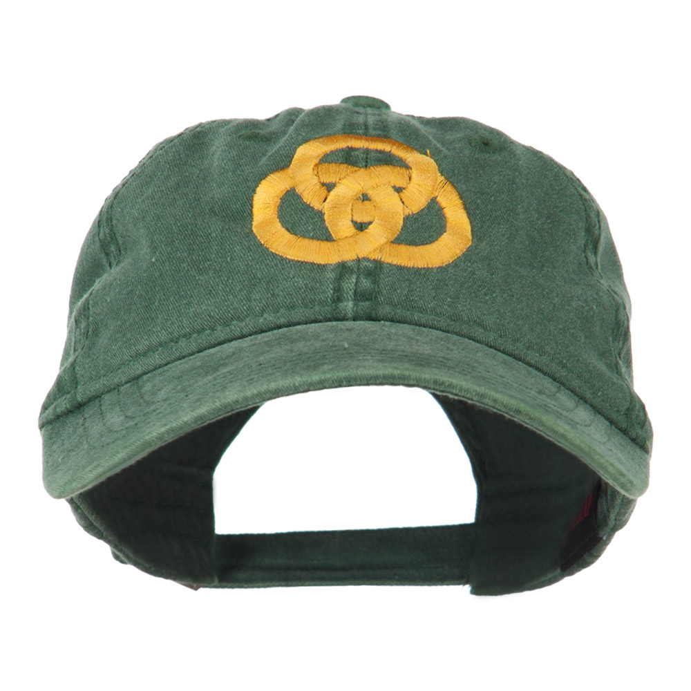 3 Rings Connected Embroidered Cap - Dark Green - Hats and Caps Online Shop - Hip Head Gear