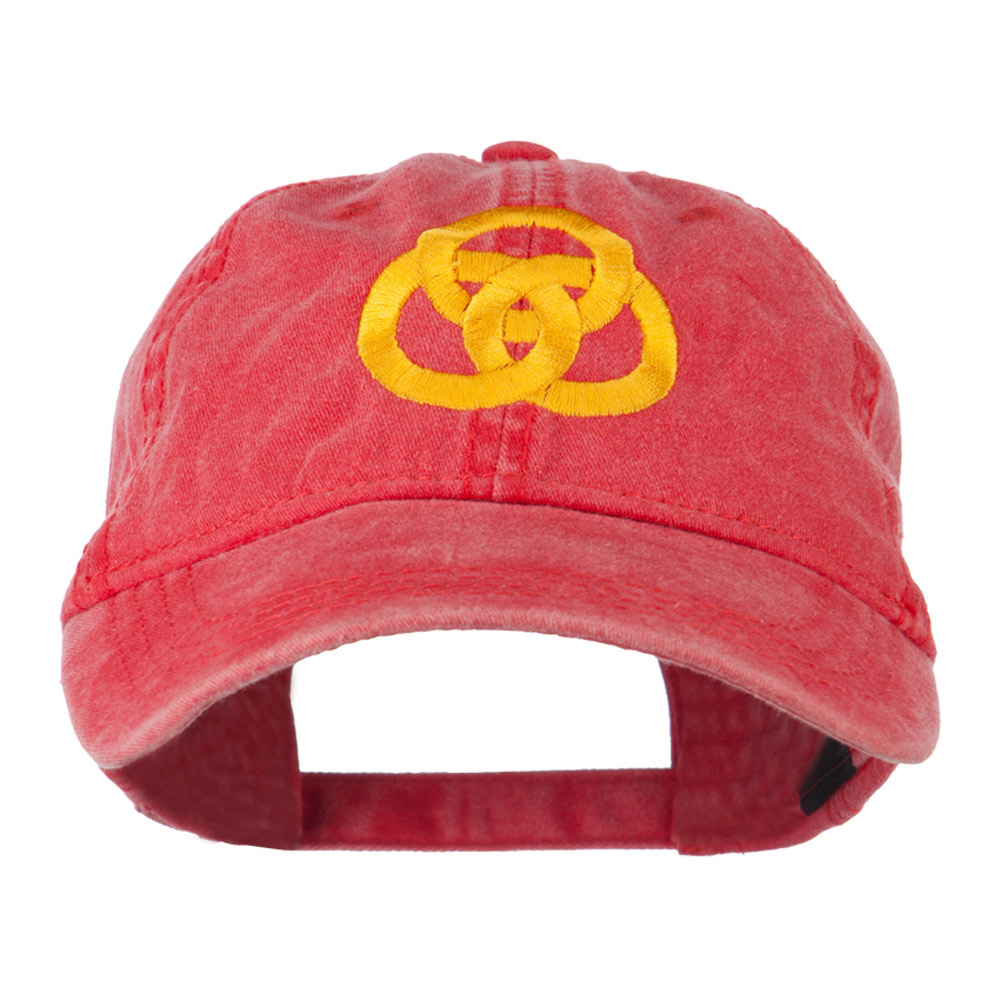3 Rings Connected Embroidered Cap - Red - Hats and Caps Online Shop - Hip Head Gear