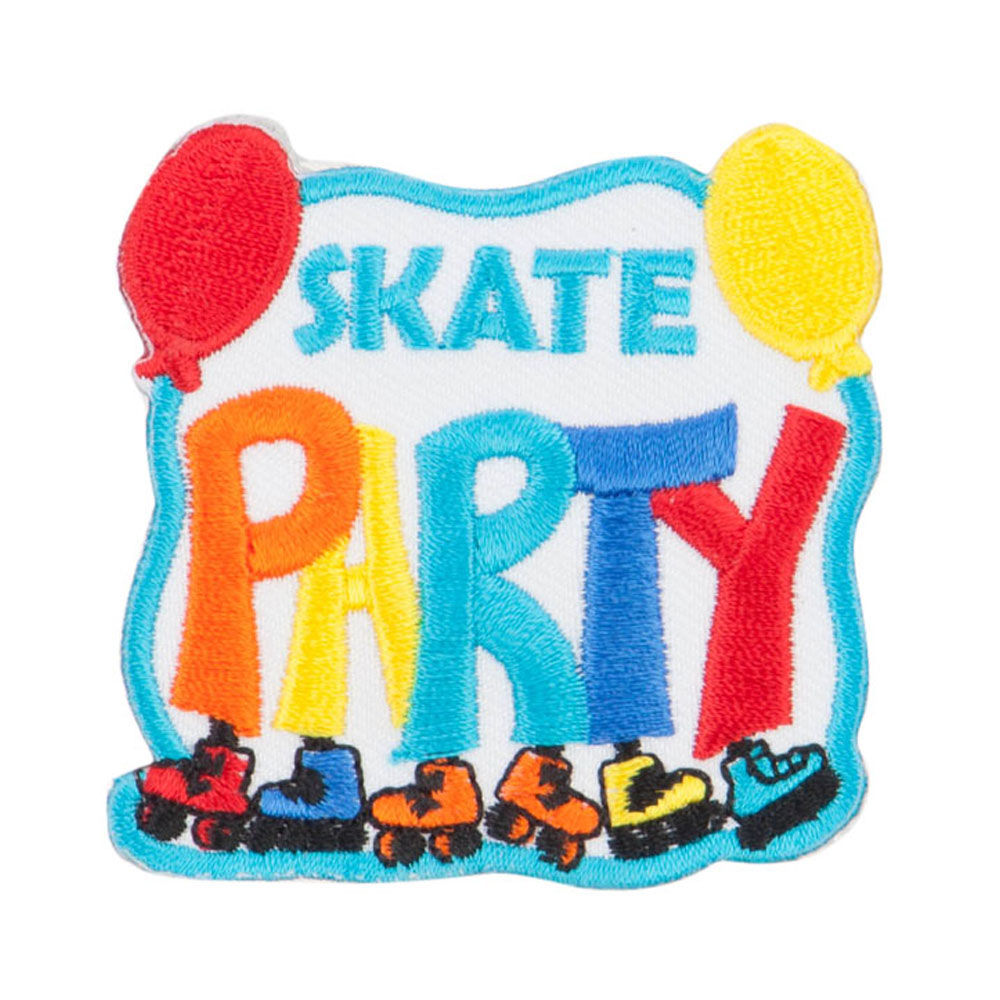 Roller Skating Fun Patches - Blue