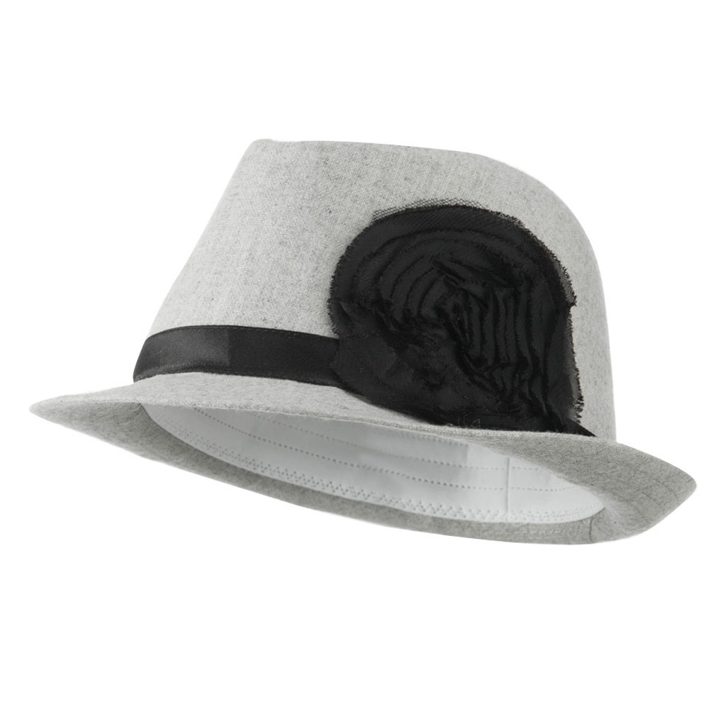 Melton Fedora with Rosette - Ivory - Hats and Caps Online Shop - Hip Head Gear