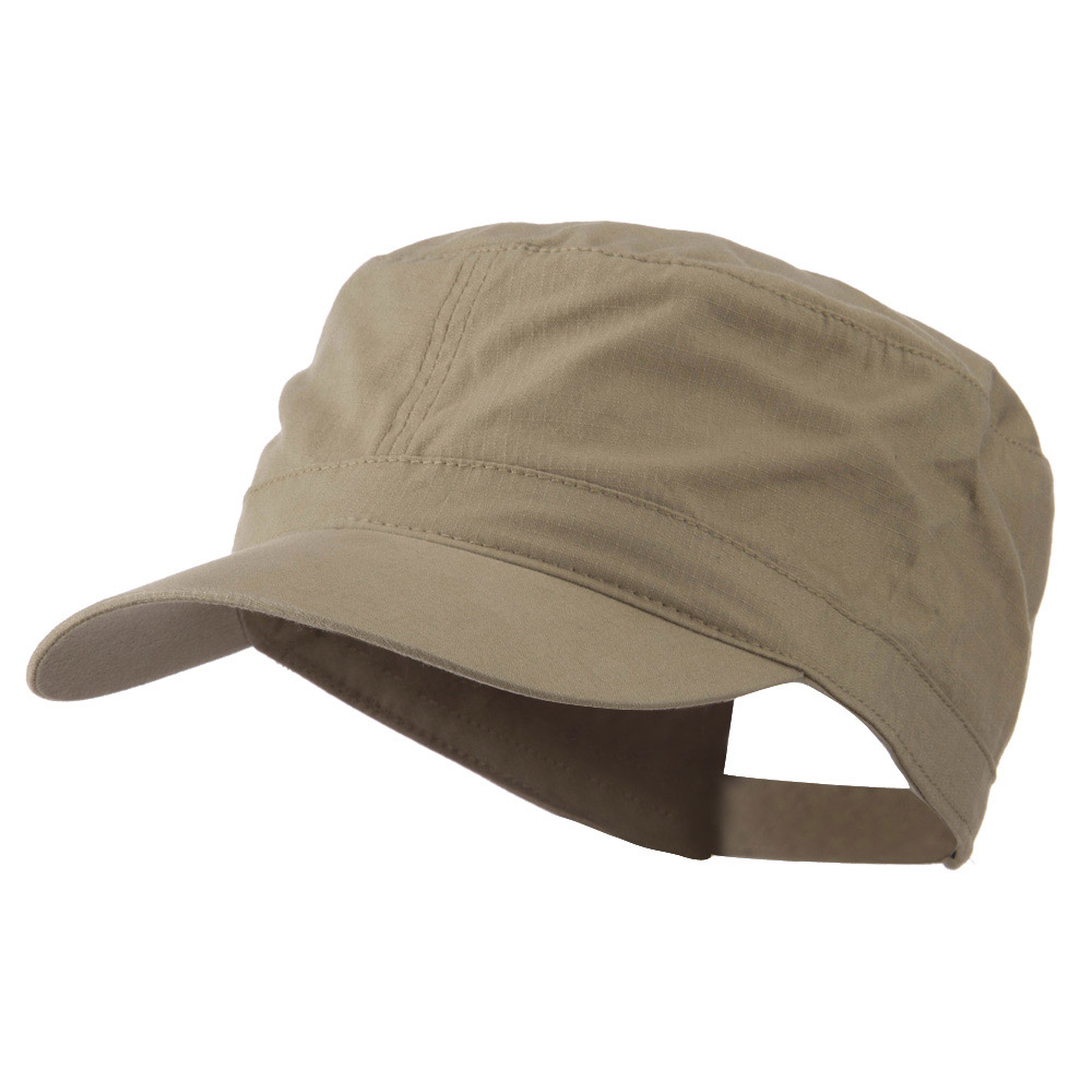 Big Size Adjustable Cotton Ripstop Army Cap - Khaki - Hats and Caps Online Shop - Hip Head Gear