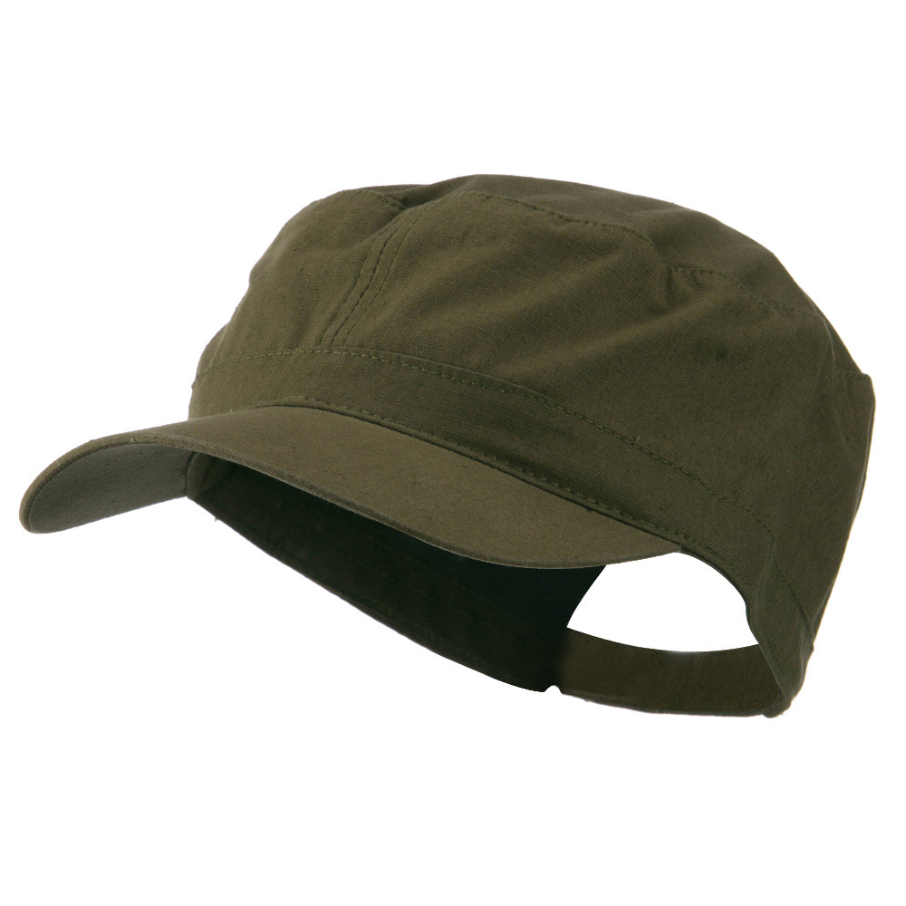 Big Size Adjustable Cotton Ripstop Army Cap - Olive - Hats and Caps Online Shop - Hip Head Gear