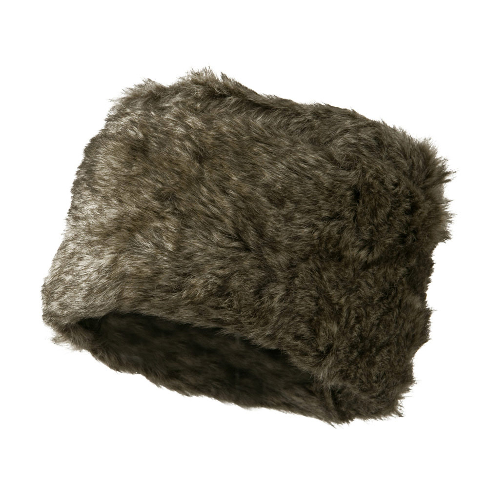 Faux Fur Russian Style Cloche Hat - Grey Mix - Hats and Caps Online Shop - Hip Head Gear