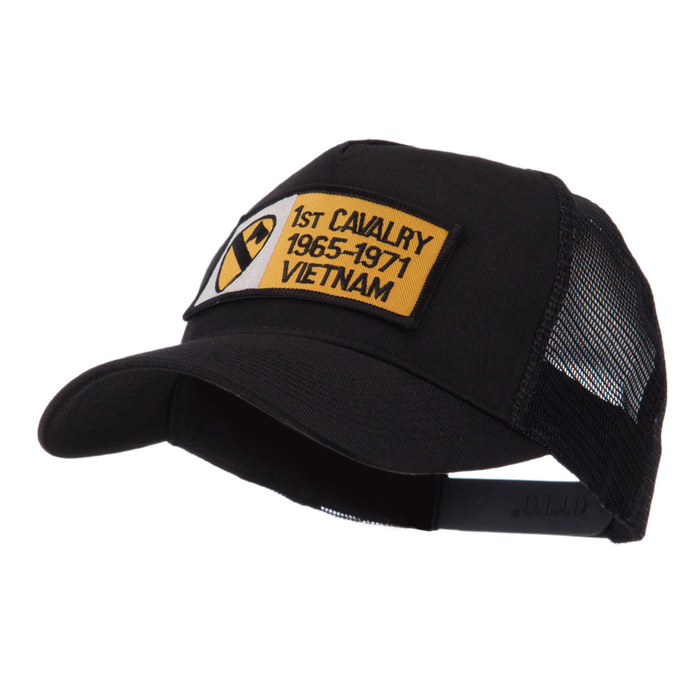 Army Rectangle Military Patched Mesh Cap - 1st Cav - Hats and Caps Online Shop - Hip Head Gear