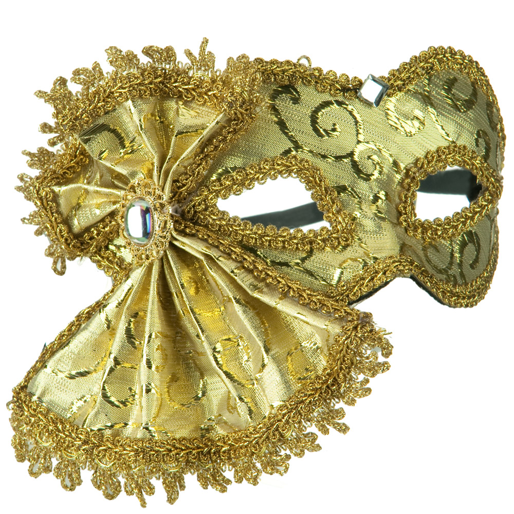 Ribbon Venetian Mask - Gold - Hats and Caps Online Shop - Hip Head Gear