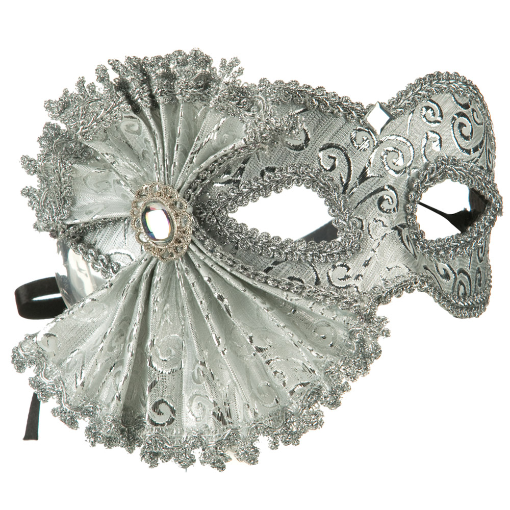 Ribbon Venetian Mask - Silver - Hats and Caps Online Shop - Hip Head Gear