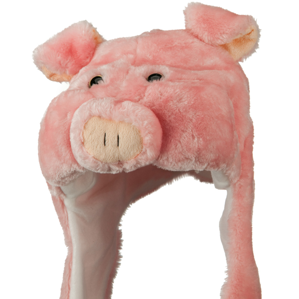 Polyester SW Animal Hat - Pink Pig - Hats and Caps Online Shop - Hip Head Gear